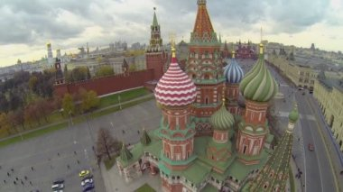 Edifice of Saint Basils Cathedral — Stock Video