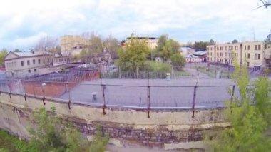 Prison building complex — Stock Video