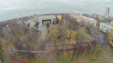 Edifice of Russian State Social University — Stock Video