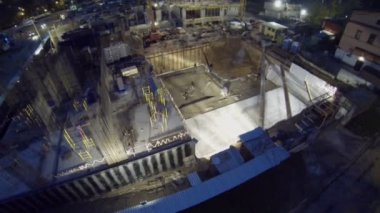Builders work at construction site of Falcon Fort — Stock Video