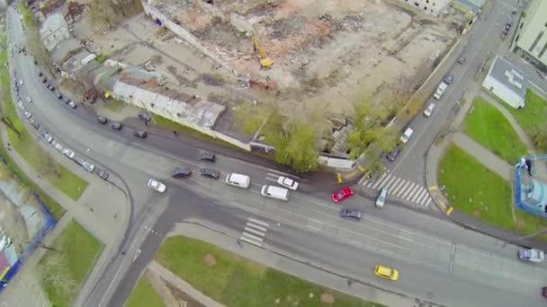 Dismantling of old dilapidated buildings — Vidéo