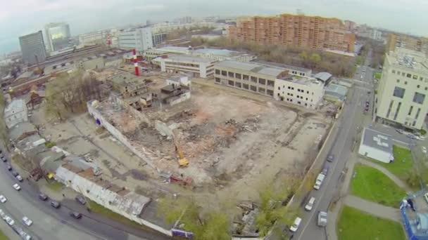 Destruction of old dilapidated buildings — Vidéo