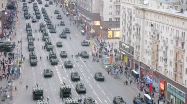 Military vehicles parade — Stock Video