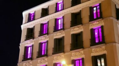 Color illumination blink in windows — Stock Video