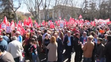 Demonstration of Communist Party of Spain — Stock Video