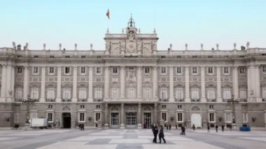 Palace of Spanish kings in Madrid — Stock Video