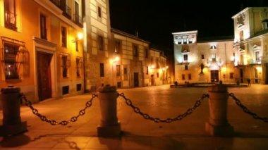 Central square of Madrid Plaza de la Villa — Stock Video
