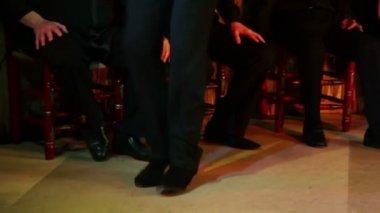 Legs of man dancing flamenco — Stock Video