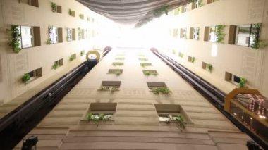 Elevator on Hotel Senator Gran Via — Stock Video