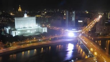 Aerial panorama of city — Stock Video