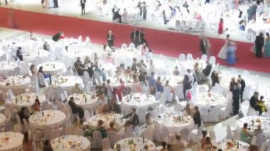 People at Vensky Ball — Stock Video