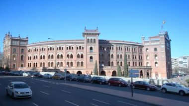 Famous corrida arena Plaza del Toros Madrid — Stock Video