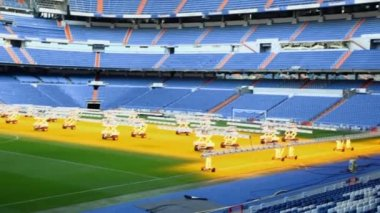 Santiago Bernabeu stadium — Stock Video