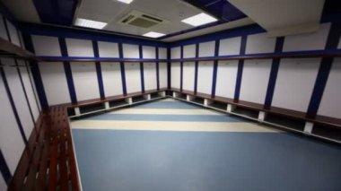 Cloakroom in Santiago Bernabeu Stadium — Stock Video