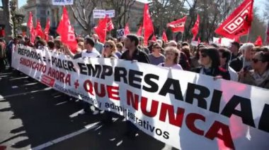People of Communist Party of Spain — Stock Video