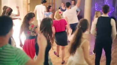 People dance at boogie-woogie party — Stock Video