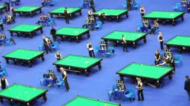 International Billiards Tournament — Stock Video