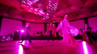 People dancing at masquerade ball — Stock Video