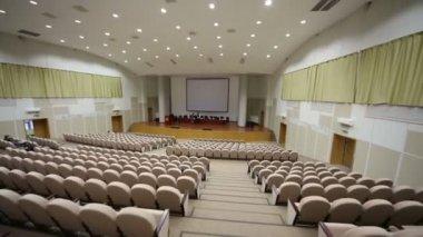 Auditorium in Federal State Statistics Service — Stock Video