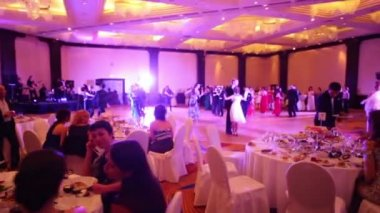 People dancing in masquerade ball — Stock Video