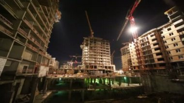 High-rise buildings under construction — Stockvideo