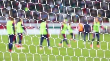 Vit fotboll rutnät, fotboll — Stockvideo