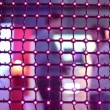 LED net with flashing lamps at exhibition — Stock Video #74615791