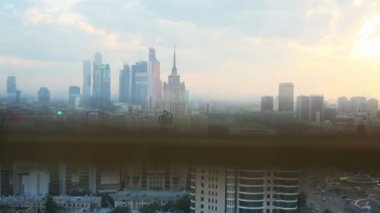 Business Complex Moscow City — Stock Video