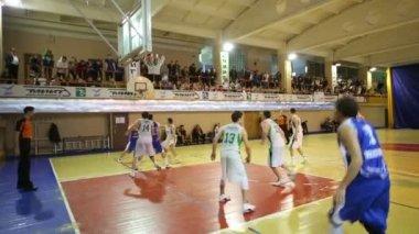 Basketball game at IV National Games — Stok video
