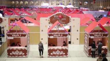 Food fair at sixth gastronomic festival — Stock Video