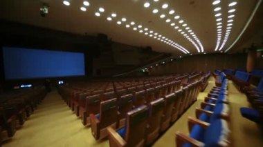Large cinema hall at Kremlin Palace — Stock Video
