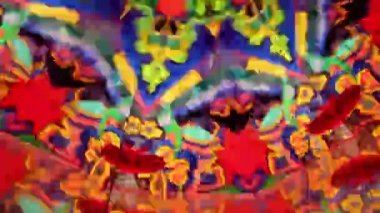 Whirling kaleidoscope of changing shape — Stock Video