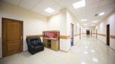 Long corridor with aquarium — Wideo stockowe