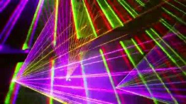 Flashing color stroboscopes — Stock Video