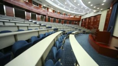 Empty university auditorium in MGIMO in Moscow — Stock Video