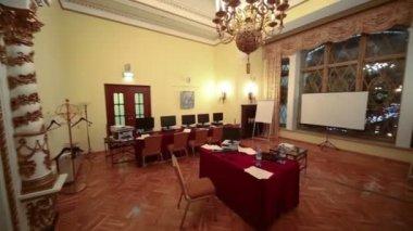 Conference hall Orlikov in Hotel Hilton — Stock Video