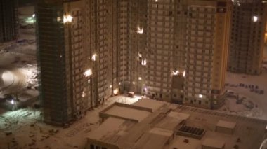 Highrise building under construction — Video Stock