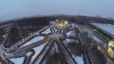 Complexo de casas museu Kuskovo — Vídeo stock