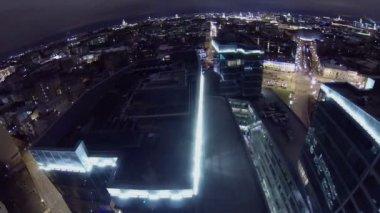 Roof of business center Legenda Cvetnogo — Stock Video
