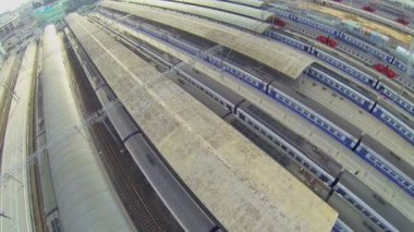 Jaroslavské železniční stanice — Stock video
