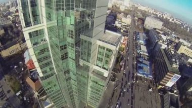 Tall office building Sokolinaya Gora — Stock Video