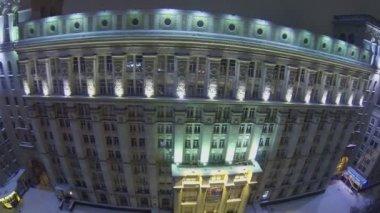 Facade of edifice of system design bureau — Stock Video