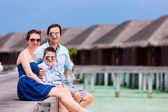 Family on summer vacation at resort — Stock Photo