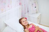 Little girl in her room — Stock fotografie