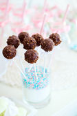 Pastel de chocolate pops — Foto de Stock