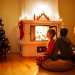 Family at home on Christmas eve — Stock Photo #54223163