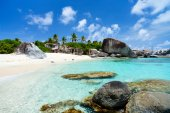 Picture perfect beach at Caribbean — Foto Stock