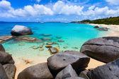Stunning beach at Caribbean — Stok fotoğraf