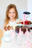 Little fairy on birthday party — Stock Photo