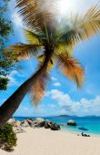 Picture perfect beach at Caribbean — Foto de Stock
